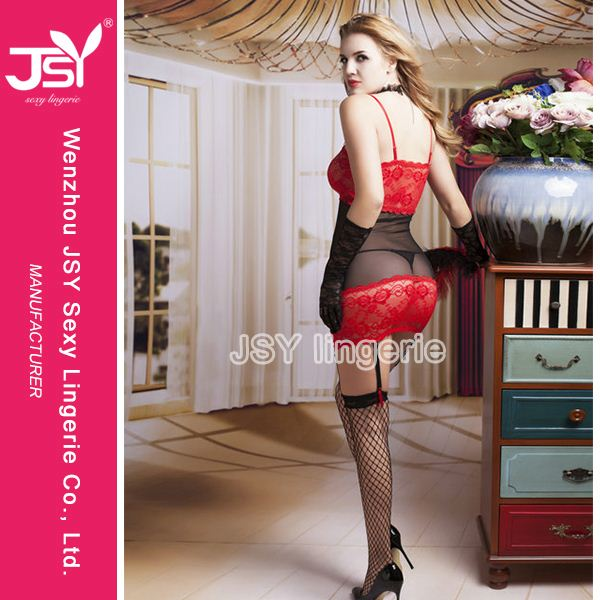 Latest Arrival trendy style nude sheer lingerie babydoll on sale