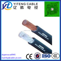 thin soft copper wire conductor rubber insulation welding cable