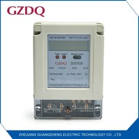 RS485 communication single phase 6 digits LCD digital display electronic watt hour meter