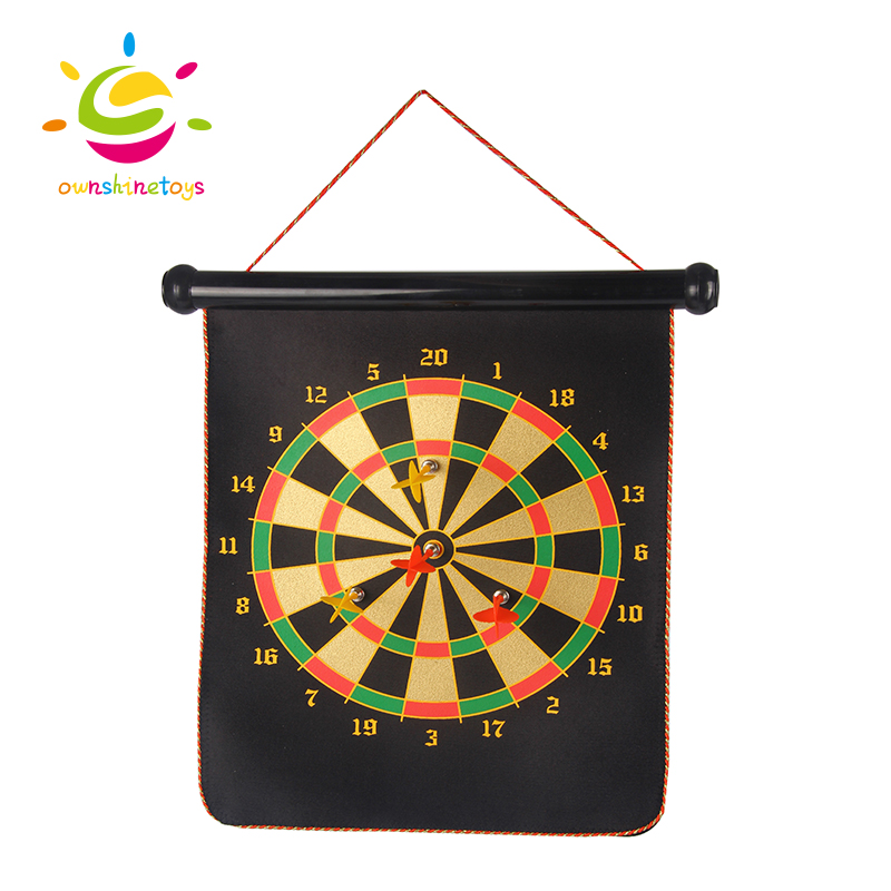 double sided safety magnetic dart board game toy