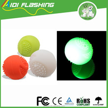 high quality electronic silicon led pet dog toys ball throwing ball