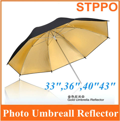 "Wholesale STPPO 33"" Photo Studio France Umbrella Gold Black Umbrellas"