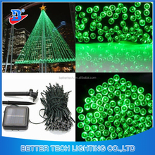 Factory Manufacturer Solar Light 200LED Solar Power Fairy Lights String Garden Outdoor Christmas Tree Green Color