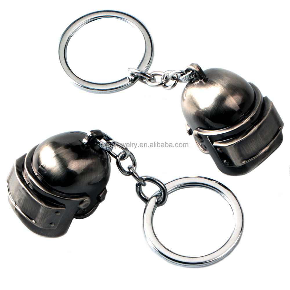 Game Playerunknown's Battlegrounds metal PUBG keychain Level 3 Helmet car keyring for men KEL0292 KEL0292