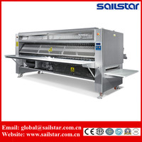 Stainless steel hotel bed sheets folding machine