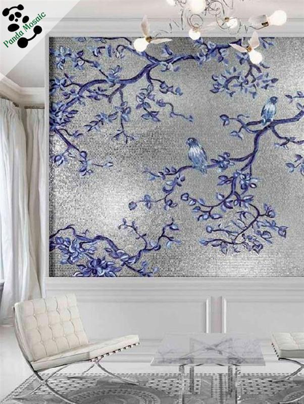 Flower pattern design for backsplash wall decor art mural mosaic tile