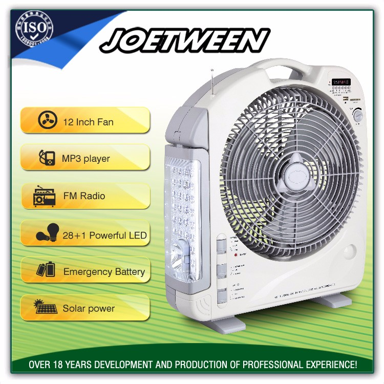 12V pedestal battery and electric power source and plastic material mini ac/dc table rechargeable fan price