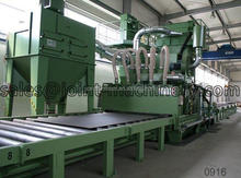 q698 steel plate pre-treatment line shot blasting machine/sand blaster