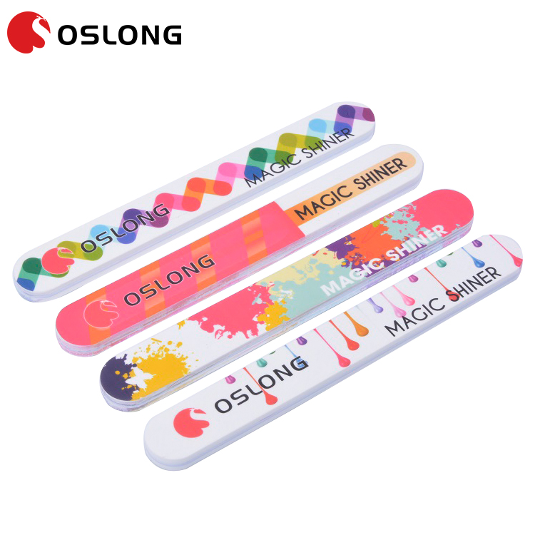 Sanding Paper Custom Print Mini Round Nail File With Various Colors nail manicure Nail Tool