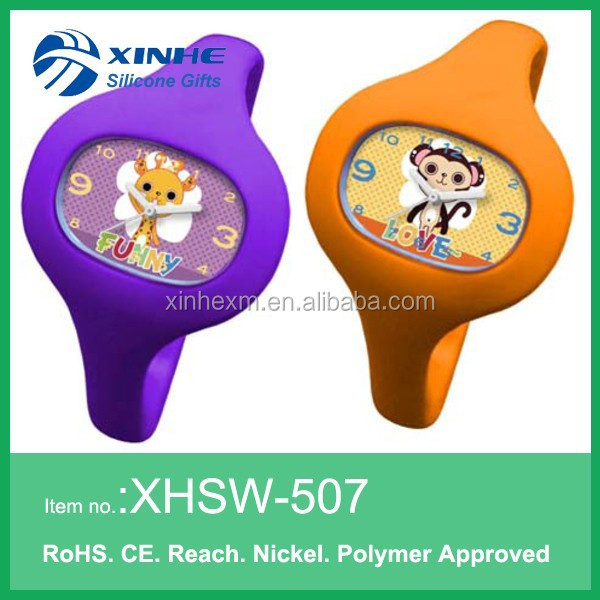 customed silicone wrist watches for kids