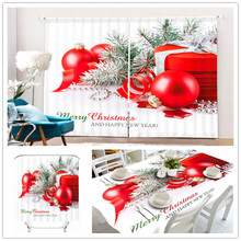 Roman Fashion Cartoon Crochet Big Hem Christmas 3D Polyester Cushion Cover , Tablecloth , Shower Window Curtain For Living Room