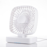 Quiet USB Powered 4-level Speed USB Mini Desk Fan Versatile Cooling Fan with 1.5M Cable for Home, Office, Bedroom, Gaming Room,