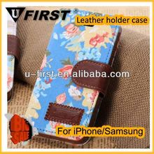 New wallet magnetic leather case for iphone 5c case wholesale