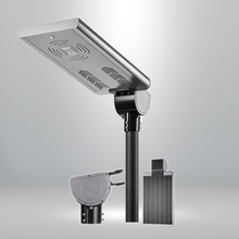 factory price all in one 20w solar lights with li battery