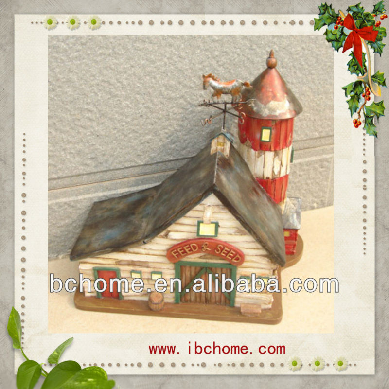 Polyresin miniature village house crafts