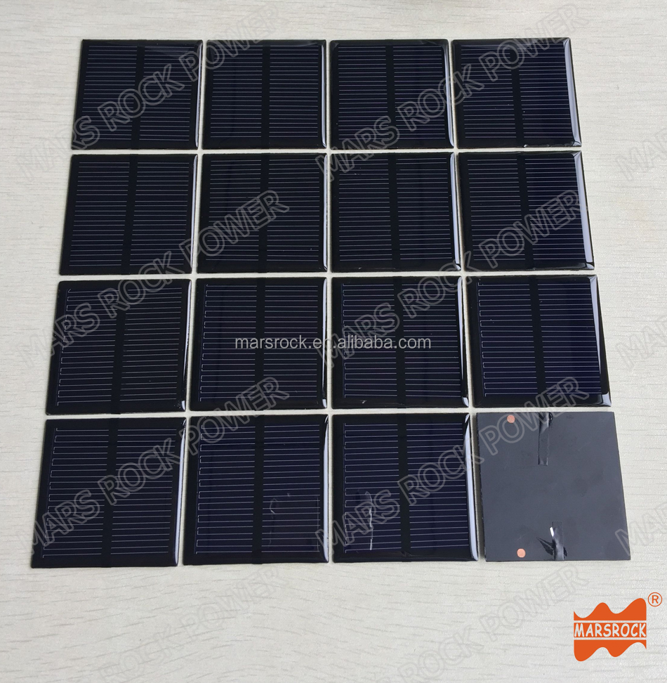60x60mm 5.5V 100mA Mini Epoxy Resin Solar Panel for Consumer Electronics, Toys, DIY Products Customized small solar panel cells