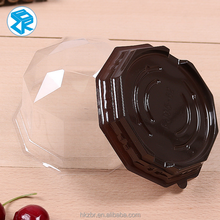 PET packing material cake container bread packaging plastic clear cake box with lid