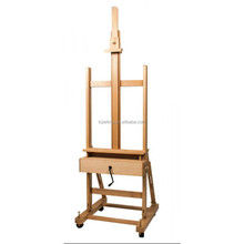 Mont Marte Studio Easel with Crank & Storage Drawer - Beech wood