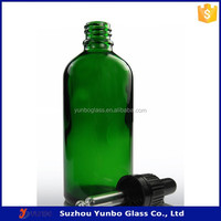 Top Quality Green Nourishing Drinking or Cosmetics Glass Dropper Bottle 100ml with Child Resistant Cap