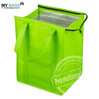 promotional custom wholesale logo print insulated polyester cooler bag insulated for frozen food