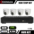 DONGJIA DJ-IPK-2004P-2329 Indoor Home Security Systems H.264 4CH POE NVR and Cameras