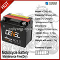 YTX5L-BS lead-acid maintence free battery (Replace with 12N5-3B) battery for jupiter mx motorcycle parts