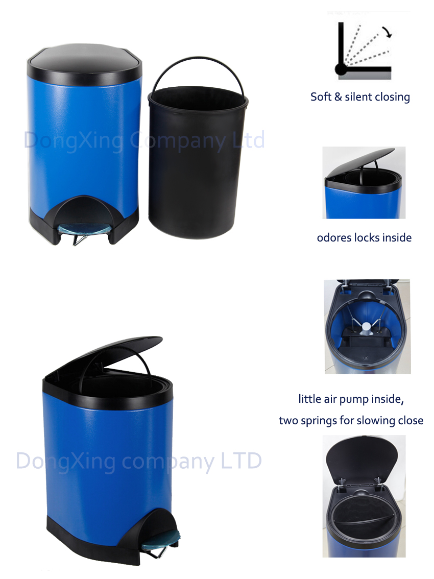Stainless steel Step Bin 5L 8L 20L 30L 40L Slow closing