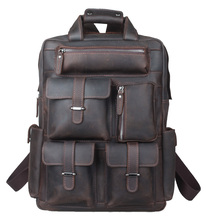 TIDING Weekender Bag, Crazy Horse Leather Backpacks
