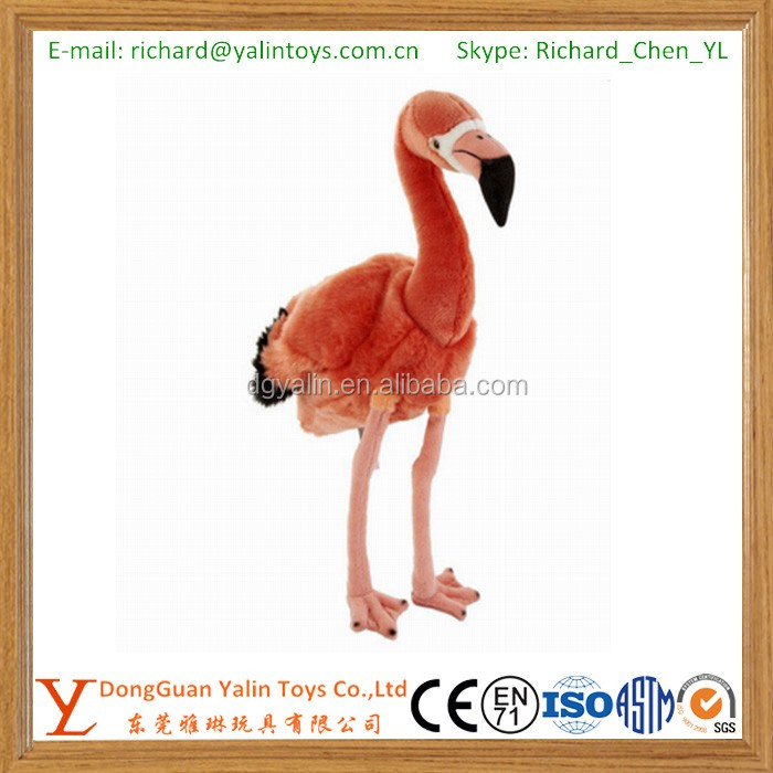 Plush material and bird type plush toy flamingos