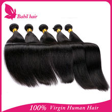Top quality 8-30 inch virgin silk straight hair Combodian hair made in China