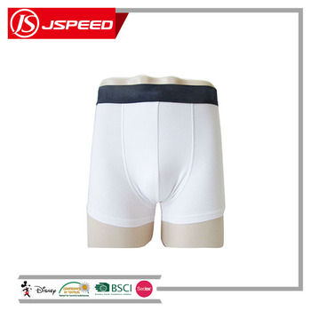 Customized fabric comfortable cotton/nylon/spandex high quality men boxers underwear basic solid color