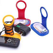 Plastic foldable mobile phone wall chargering holder