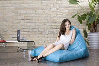 High Quality Beanbag Sofa Chair, Triangle Shaped, Solid Color, Made Of Eco-friendly Fabric Material