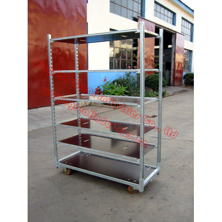 Display Flower Trolley.Danish Trolley.Gardening Transport Cart, Steel Rolling Trolley Tool cart.Greenhouse Equiment TC2253