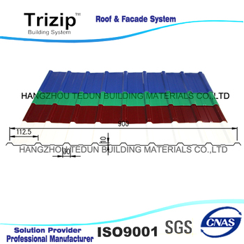 Hot sale trapezoidal roof panels