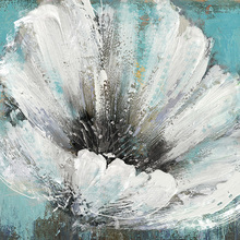 White Flower Painting Canvas Art Home Decor