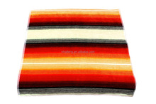 Large dyed yarn velour strip style colorful cotton beach towel