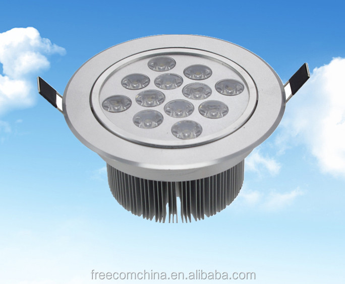 12W LED suspended ceiling light mounted decorative parts