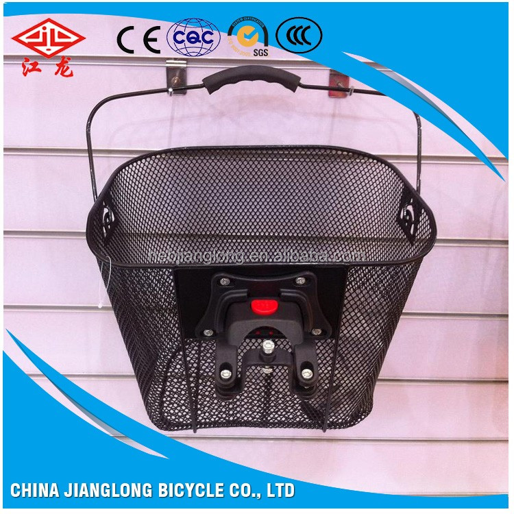 Wholesale 2017high quality steel or plastic all kinds of colors removable bicycle basket
