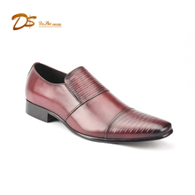 Hot selling product 2018 calf leather dress shoes slip on loafer men brand