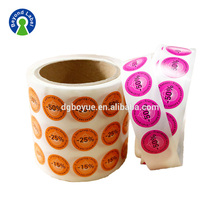 Pre Printed Removable Price Sticker Paper Labels Roll