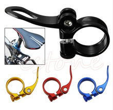 For MTB Bike Bicycle Cycling Saddle Seat Post Clamp Quick Release Alloy Style 34.9mm