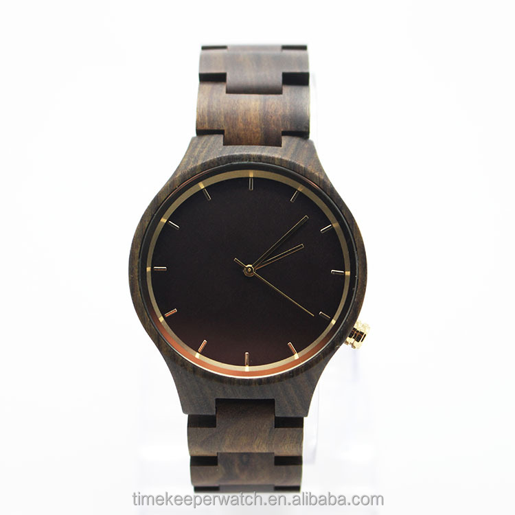 wholesale wood watches ,made in china ,stainless steel case back ,high quality wood watches 2016