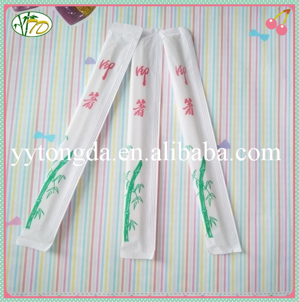 China gold supplier high reflective top sell bamboo chopsticks paper wrap