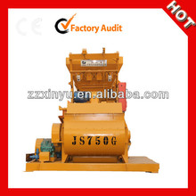 Hot sale dry mixer machine JS750 mini concrete mixer with hopper price in dubai