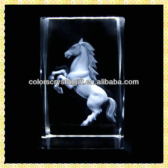 Personalized Engraved 3D Laser Crystal Figurine For New Year Gifts Items