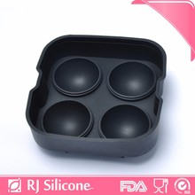 RJSILICONE silicone ice ball molds silicone ice maker high quality sphere silicone 4-Cavity ice cube tray
