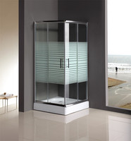 standard size mini shower room with shower tray