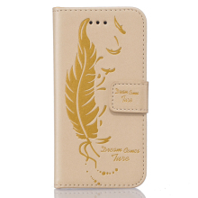 Fashion handmade genuine leather case,double embossed mobile phone cover for iPhone 5&5S&5SE