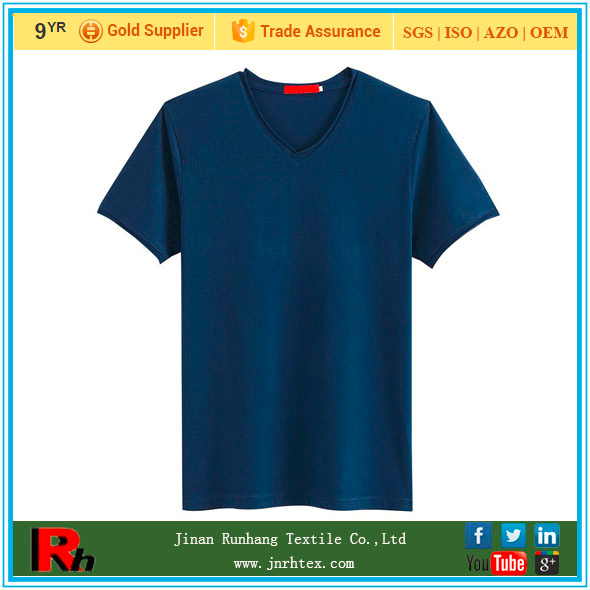 Shandong Suppliers | Mens Black V neck T Shirts 100 Cotton